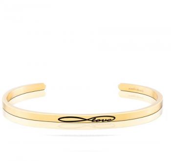 MantraBand Cuff Bracelet  - Infinite Love (Gold)
