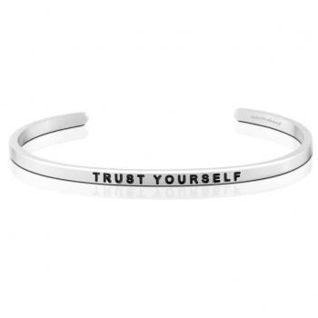 MantraBand Cuff Bracelet - Trust Yourself (Silver)