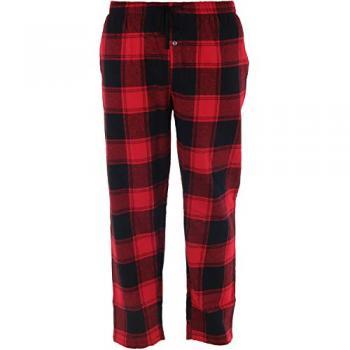 Hello Mello Men's Drawstring Lounge Pants - Red Plaid