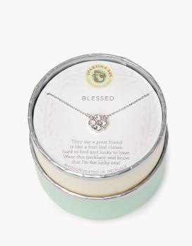Spartina 449 Necklace - Blessed (Clear)