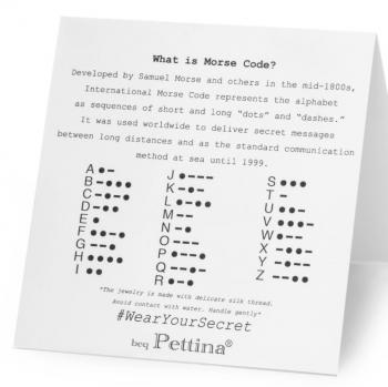 Wear Your Secret Morse Code Necklace - Believe