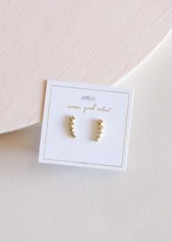 JaxKelly Earrings - Champagne Crawlers