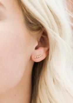 JaxKelly Earrings - Champagne Crawlers