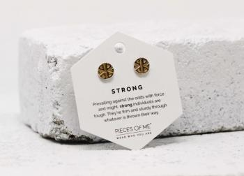 Pieces Of Me Earrings - Strong (Gold)