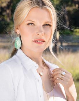 Spartina 449 Crushed Pearl Teardrop Earrings