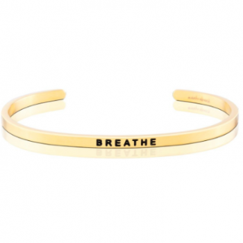 MantraBand Cuff Bracelet - Breathe (Gold)