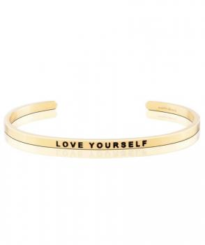 MantraBand Cuff Bracelet - Love Yourself (Gold)