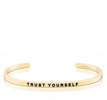 MantraBand Cuff Bracelet - Trust Yourself (Gold)