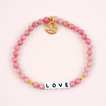 Little Words Project Bracelet - Love (White/Rhodonite)