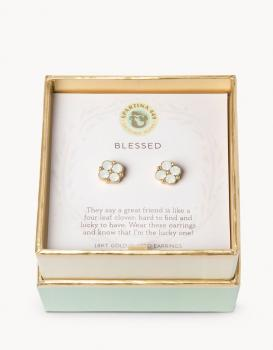 Spartina 449 Stud Earrings - Blessed (Clear)