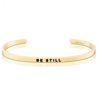 MantraBand Cuff Bracelet - Be Still (Gold)