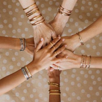 MantraBand Cuff Bracelet - Breathe (Gold)
