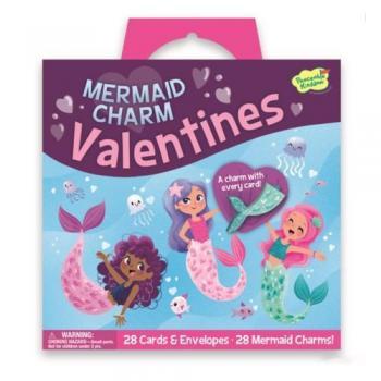 Mermaid Charm Valentines - Pack of 28