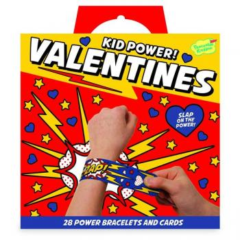Kid Power Valentines - 28 Slap Bracelets and Cards