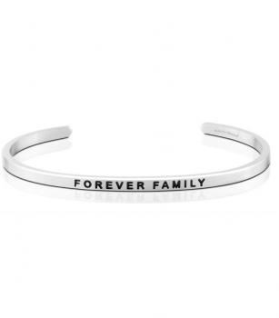 MantraBand Cuff Bracelet - Forever Family (Silver)