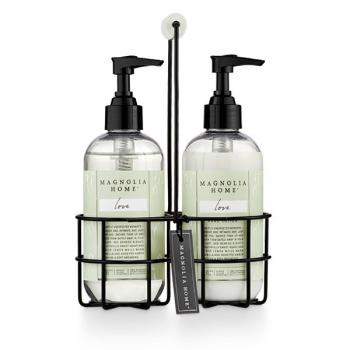 Magnolia Home Sink Caddy Hand Wash and Lotion Set - Love