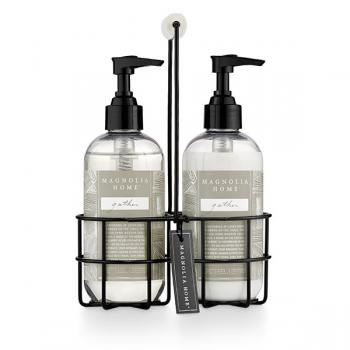 Magnolia Home Sink Caddy Soap and Lotion Set - Gather