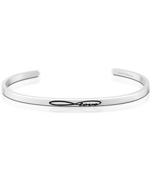 MantraBand Cuff Bracelet - Infinite Love (Silver)
