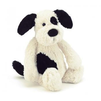 Bashful Black and Cream Puppy - Medium