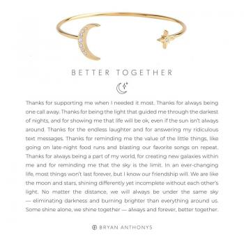 Bryan Anthonys Better Together Friendship Cuff (Gold)
