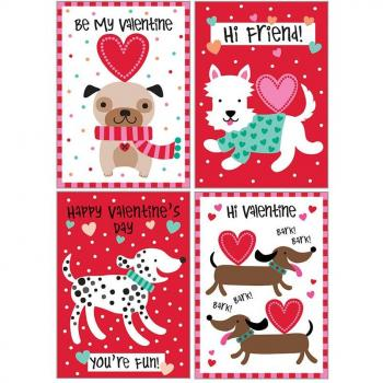 Kids Valentine Pack - Dogs and Hearts