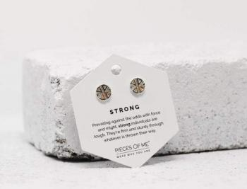 Pieces Of Me Earrings - Strong (Silver)