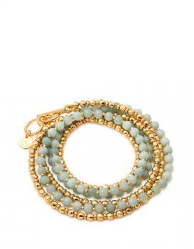 Spartina 449 Boho Bead Wrap Bracelet In Sea Foam
