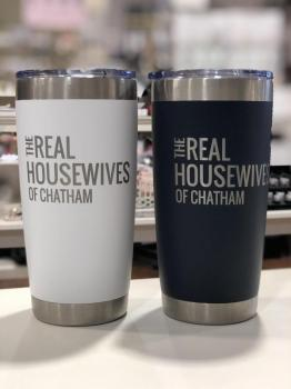 Real Housewives of Chatham - 16 oz Tumbler (White/Navy)