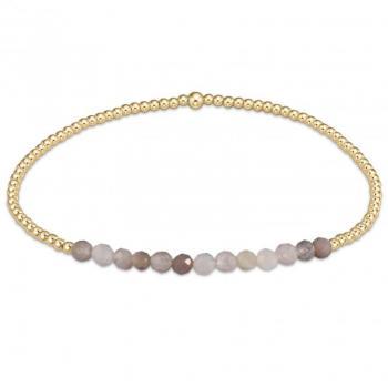 enewton Gold 2mm Beaded Bracelet - Botswana Agate