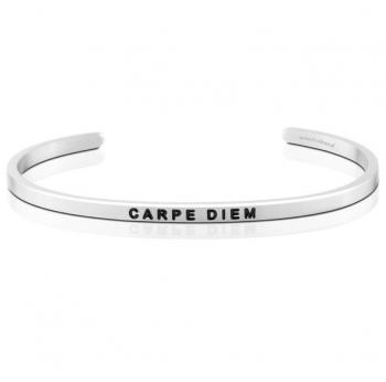 MantraBand Cuff Bracelet - Carpe Diem (Silver)