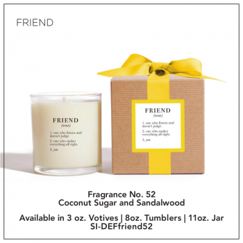 Friend Definition Candle