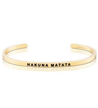 MantraBand Cuff Bracelet - Hakuna Matata (Gold)
