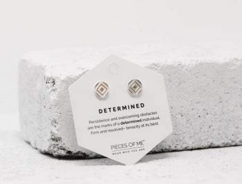 Pieces Of Me Earrings - Determined (Silver)