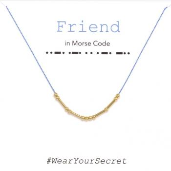 Wear Your Secret Morse Code Necklace - Friend