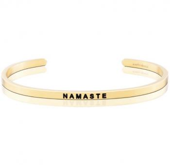 MantraBand Cuff Bracelet - Namaste (Gold)