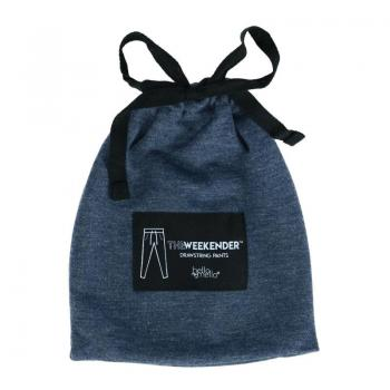 Hello Mello Weekender Drawstring Bags - Navy Blue