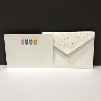 Thank You Folding Notes - Baby Bibs (10 ct)