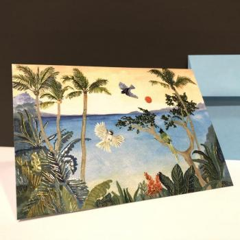 Blank Folding Note - Tropical Paradise (Pack of 14)