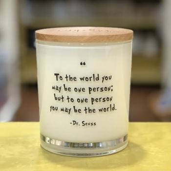 Dr. Suess Quote Soy Candle (Teakwood & Tobacco)