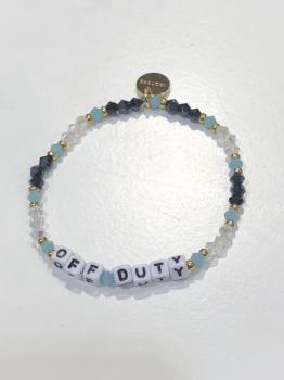 Little Words Project Bracelet - Off Duty (White Letters)