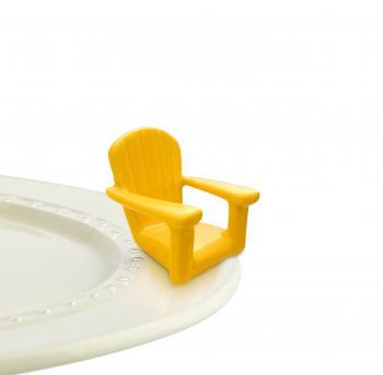 Nora Fleming Mini - Yellow Adirondack Chair