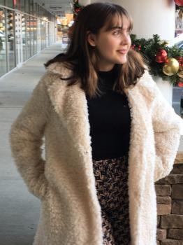 Soft Faux Fur Jacket - Cream