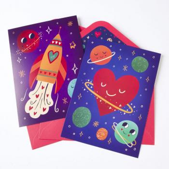 Out of This World Assorted Valentine's Cards