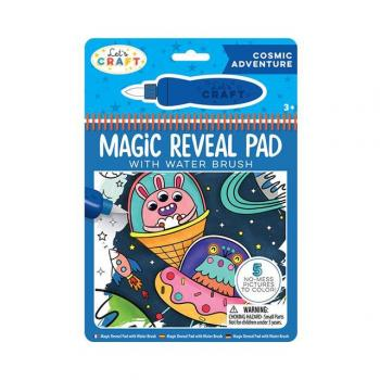 Let's Craft - Magic Reveal Pad + Water Brush: Cosmic Adventure