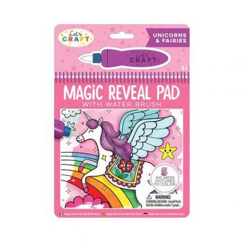 Let's Craft - Magic Reveal Pad + Water Brush: Unicorns & Fairies