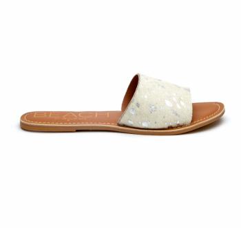 BEACH by Matisse Cabana Slide Sandal - Silver Spot