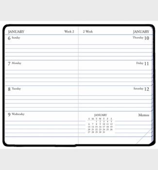 Payne Publishers Continental Mini Weekly Calendar 2.75 x 4.125