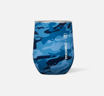 Corkcicle x Vineyard Vines Stemless - Blue Camo