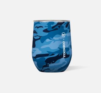 Corkcicle x Vineyard Vines Stemless - Blue Camo
