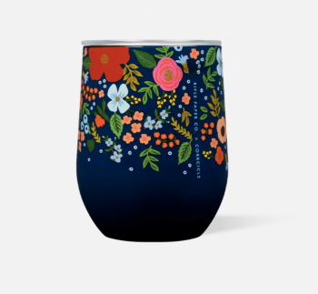 Corkcicle Stemless 12 oz - Navy Wild Rose